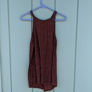 Split back knit top